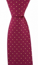 Fuchsia Pink Tie with Yellow Small Polka Dots by Soprano